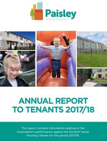 Paisley Housing Association Annual report 17.18 image