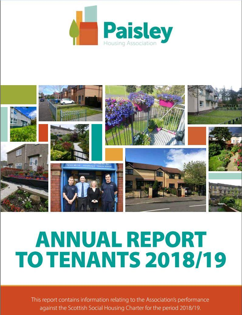 Annual Report to Tenants 2018/2019 Image